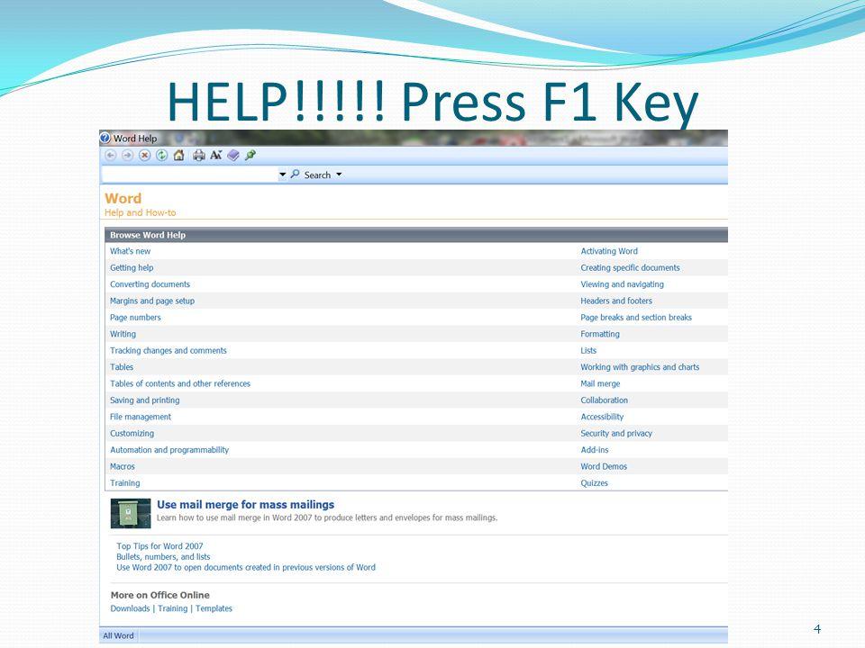 HELP!!!!! Press F1 Key 4