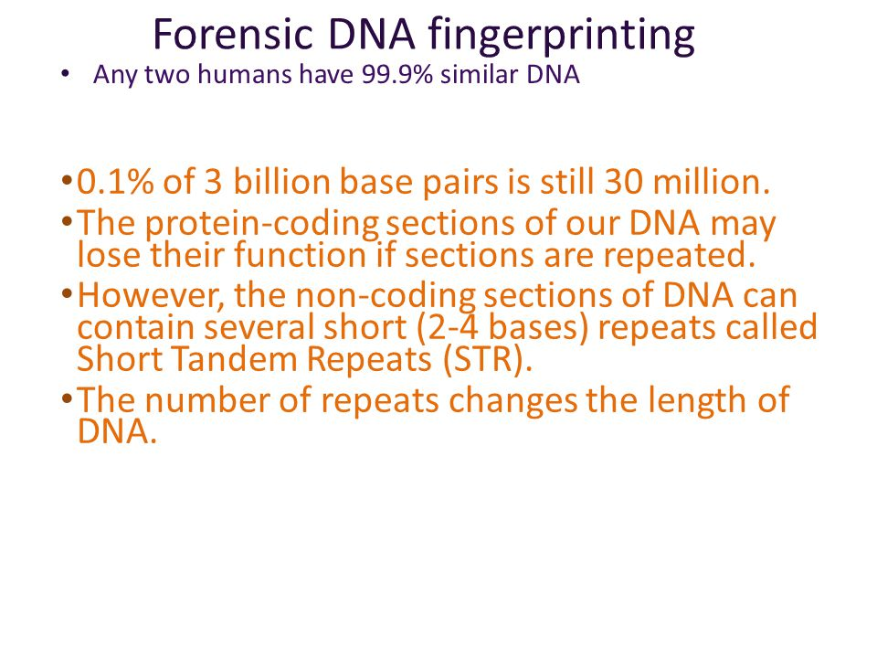 Uses: Forensics Comparing DNA sample from crime scene with suspects & victim – + S1 DNA  S2S3V suspects crime scene sample