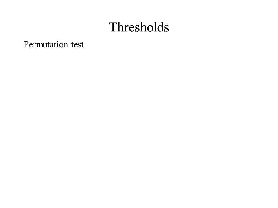 Thresholds Permutation test