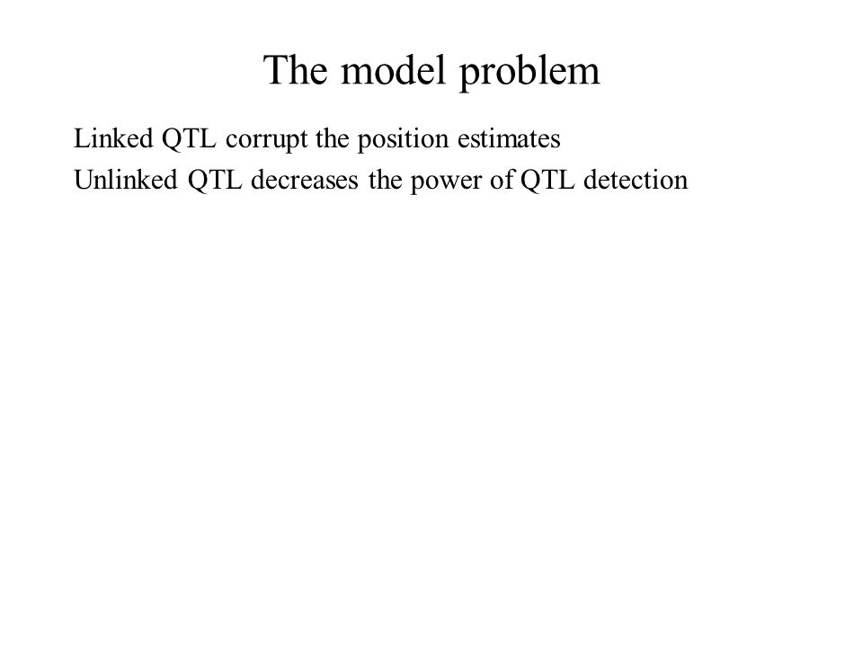 Linked QTL corrupt the position estimates Unlinked QTL decreases the power of QTL detection