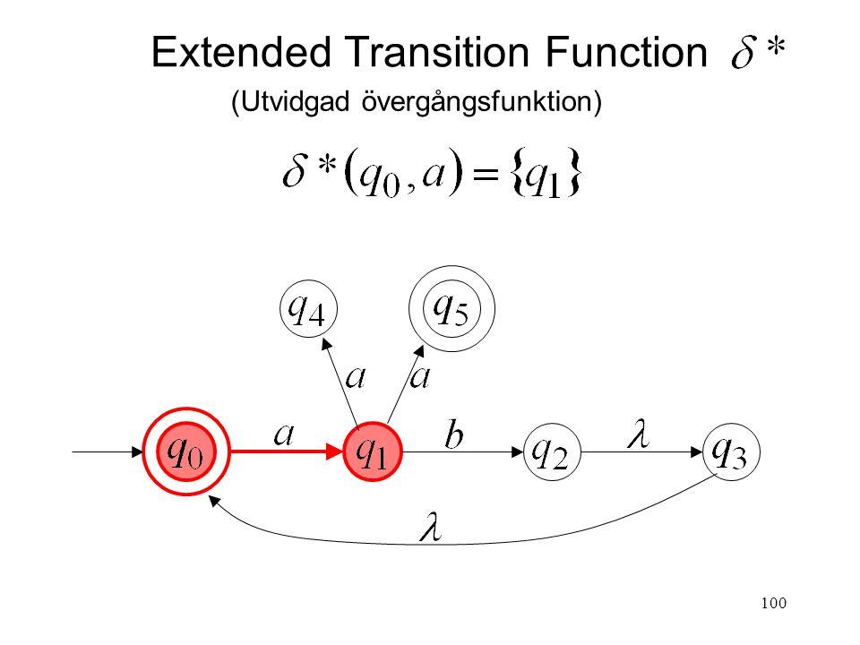 100 Extended Transition Function (Utvidgad övergångsfunktion)