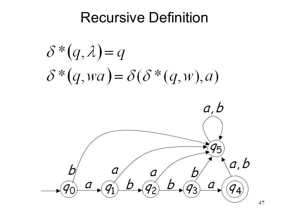 47 Recursive Definition