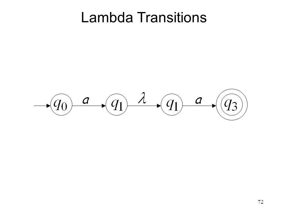 72 Lambda Transitions