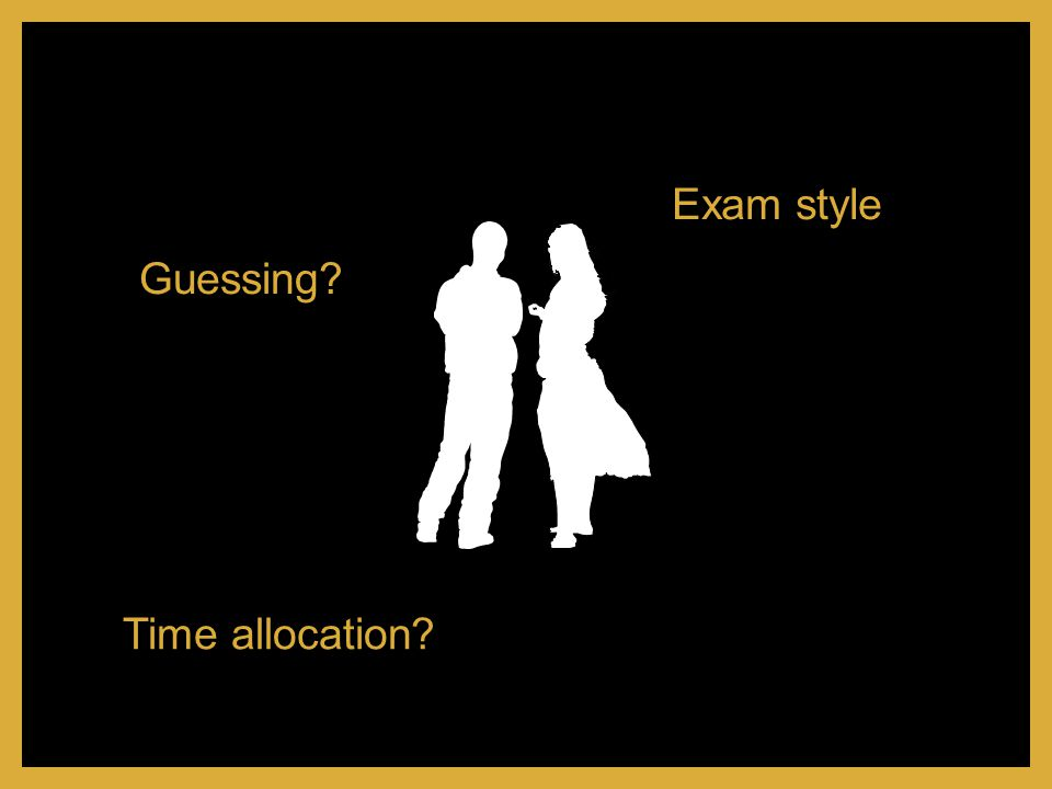 Exam style Guessing Time allocation