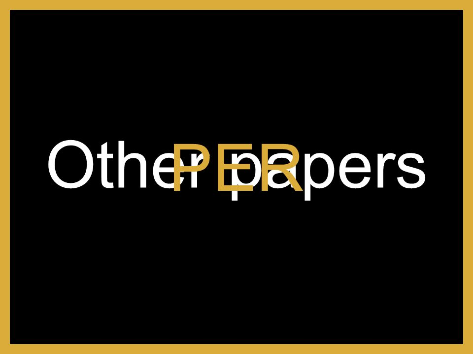 Other papers PER