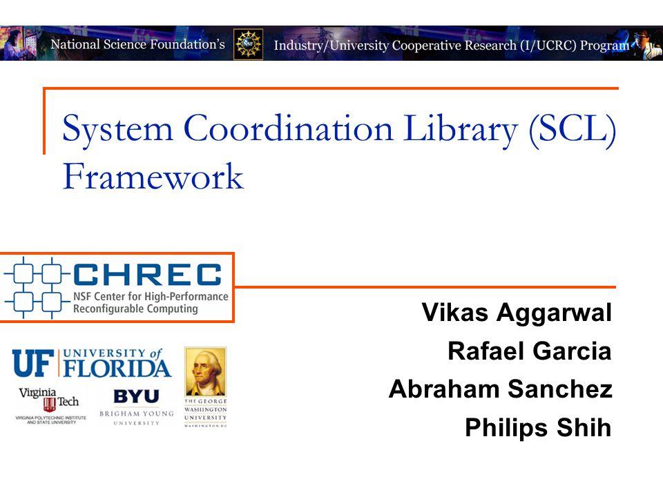 System Coordination Library (SCL) Framework Vikas Aggarwal Rafael Garcia Abraham Sanchez Philips Shih