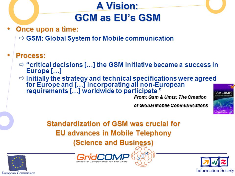 European Commission Directorate-General Information Society Unit F2 – Grid Technologies Update on ProActive and GCM (2) New Features in ProActive Version 3.2: New Features in ProActive Version 3.2:  New features in 3.2 release:  Conformance tests for Fractal, towards conformance tests for GCM  IC2D Eclipse Plugin  TimIt (Hierarchical, Visual)  Skeleton (improved, with File Transfer, Documentation)  gLite EGEE deployment updated  Support for Java 1.5 Generics:  Active Objects can be instantiated from Generic Classes  Some Warnings removed  Improvements in OSGi integration  Prototype TTools for UML modeling of GCM components (TBC)