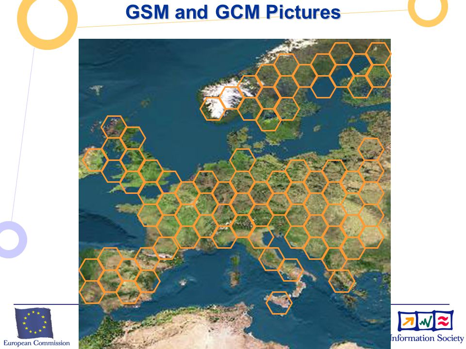 European Commission Directorate-General Information Society Unit F2 – Grid Technologies GSM and GCM Pictures GSM cells: GSM cells: Components: Components: