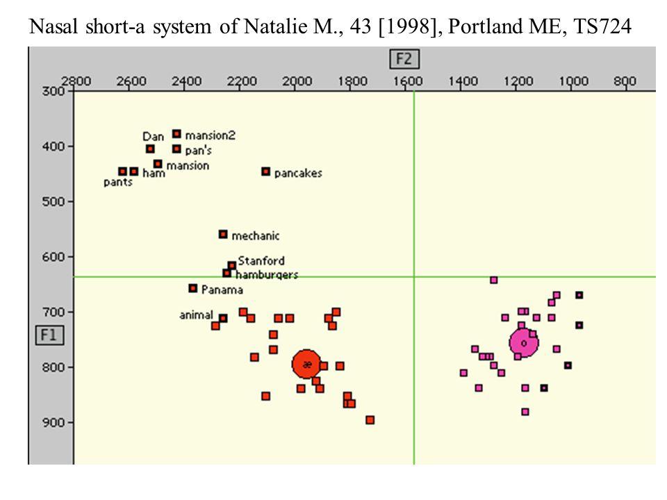 Nasal short-a system of Natalie M., 43 [1998], Portland ME, TS724