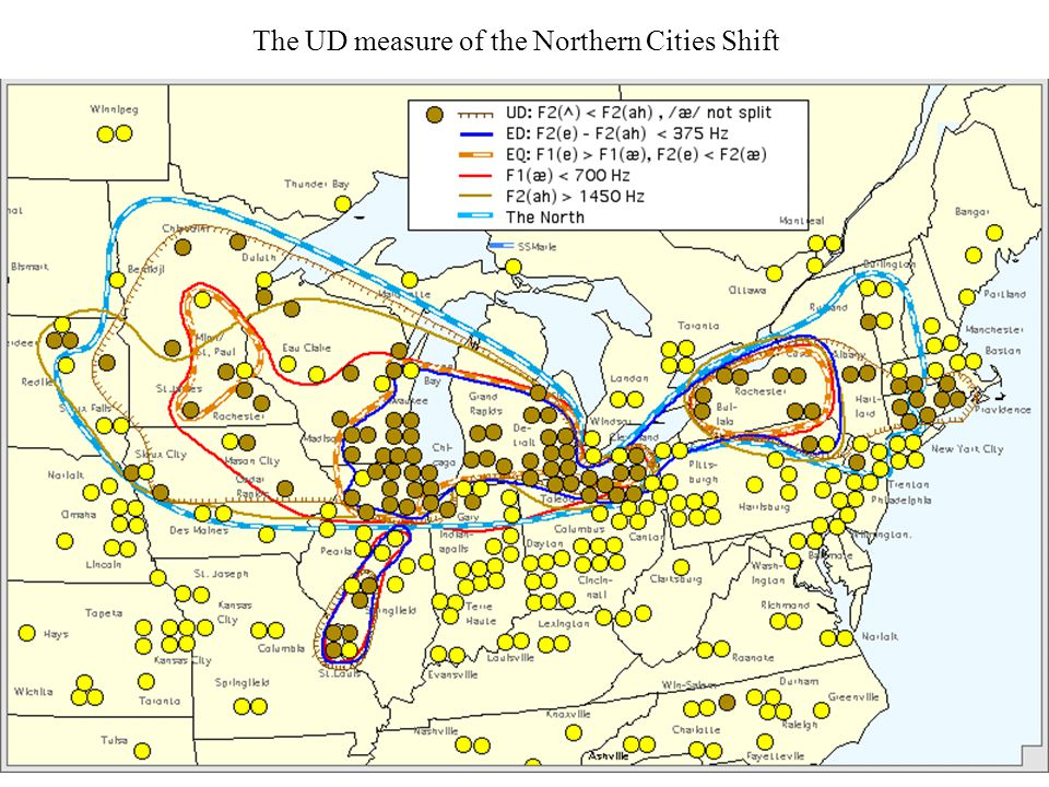 The UD measure of the Northern Cities Shift