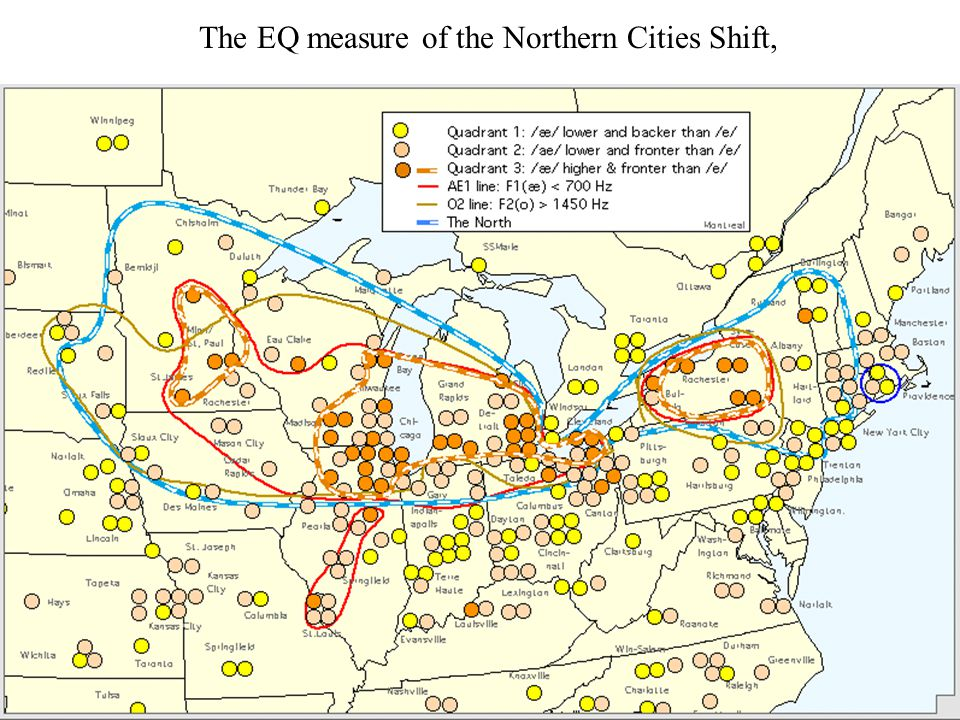 The EQ measure of the Northern Cities Shift,