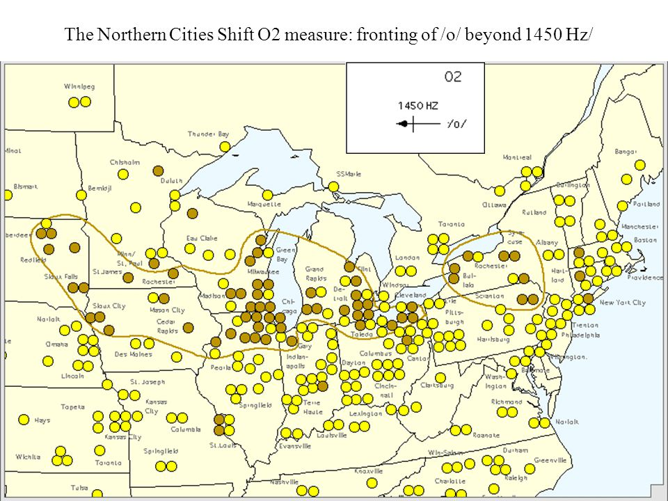 The Northern Cities Shift O2 measure: fronting of /o/ beyond 1450 Hz/