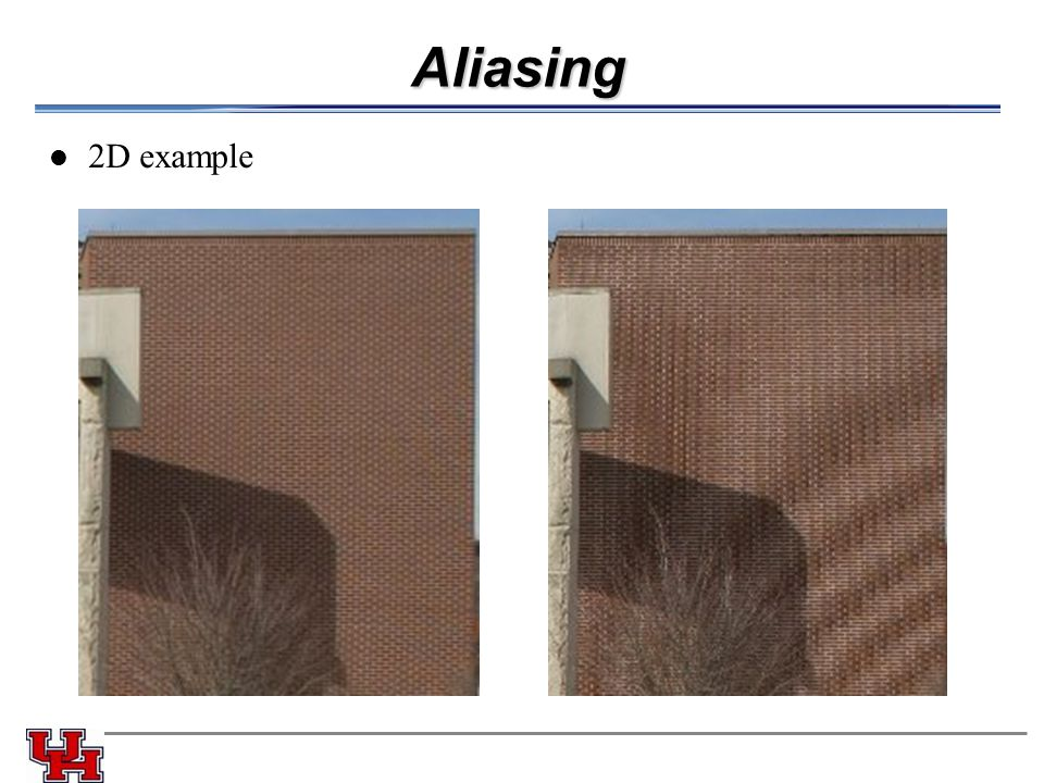 Aliasing 2D example