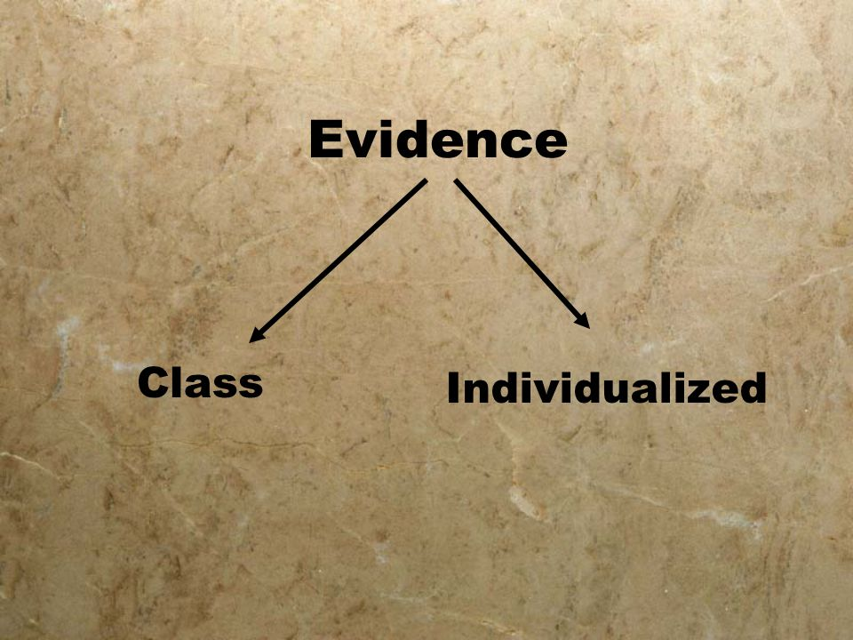 Evidence Class Individualized