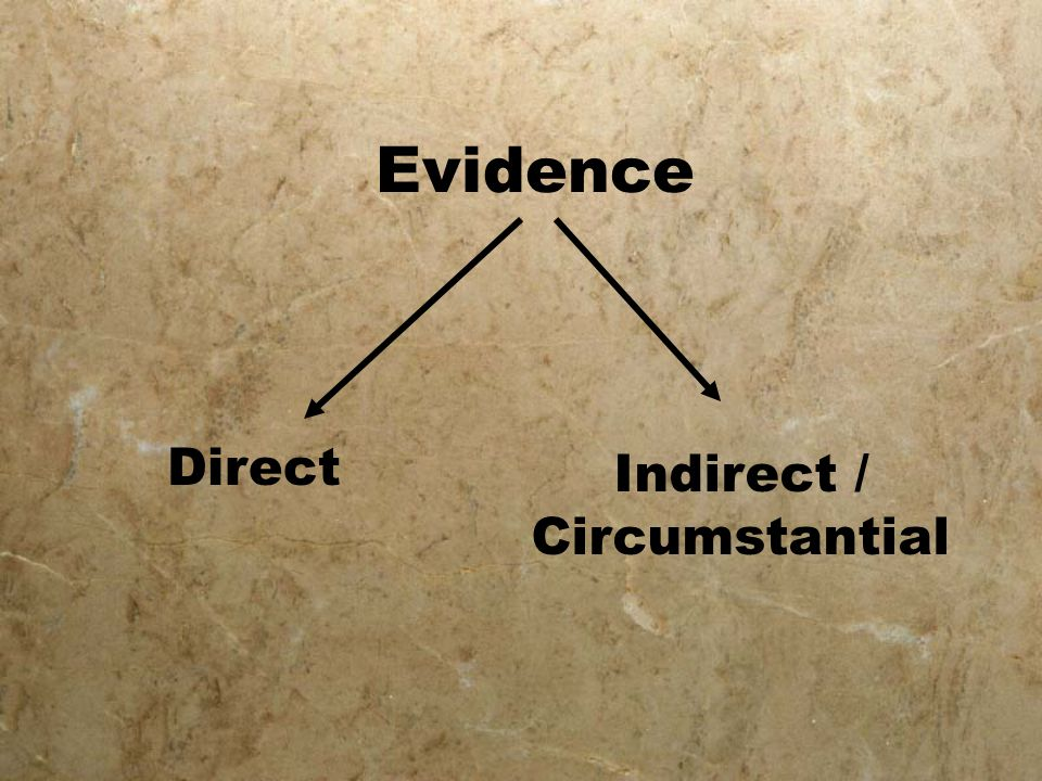 Evidence Direct Indirect / Circumstantial