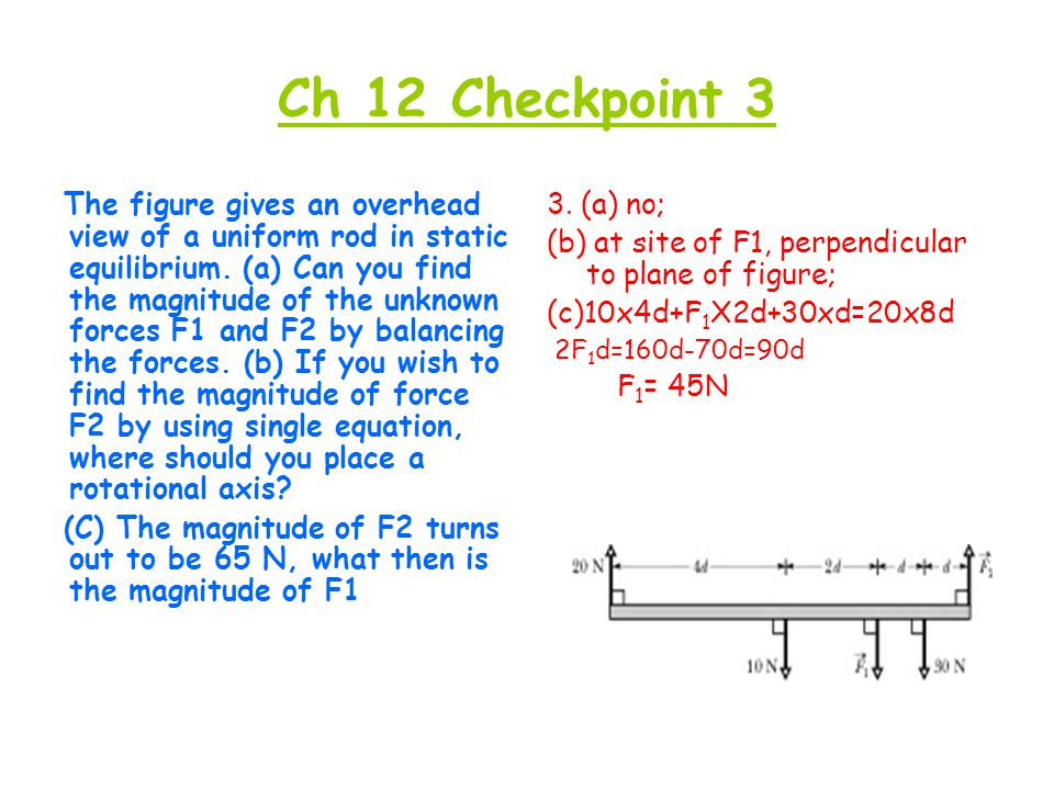 Ch 12 Checkpoint 4  In the figure a stationary 5 kg rod AC is held against a wall by a rope and friction between rod and wall.