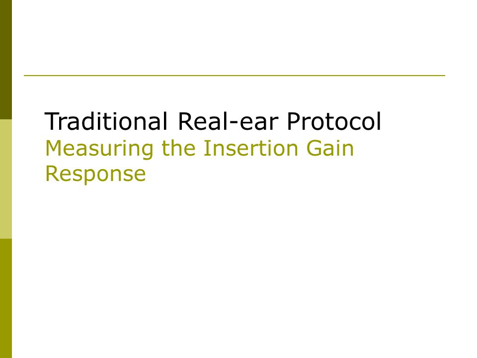 The Real-ear SPL Protocol Compare the Real-ear Response to HTLs and UCLs on one graph