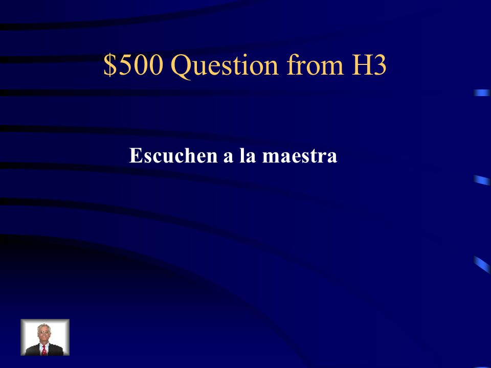 $400 Answer from H3 Sit down