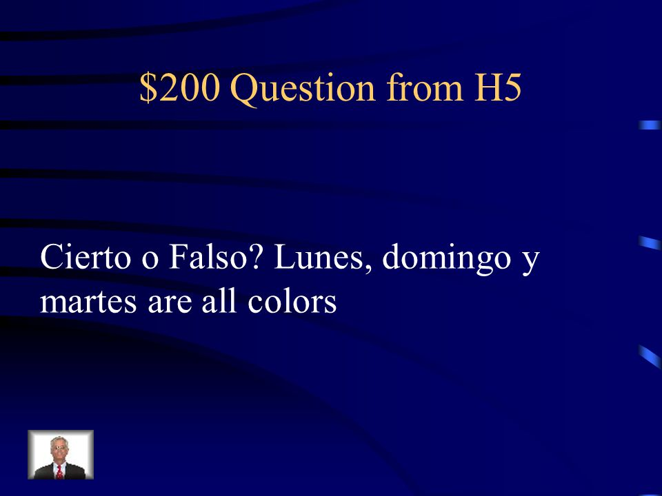 $100 Answer from H5 TRUE
