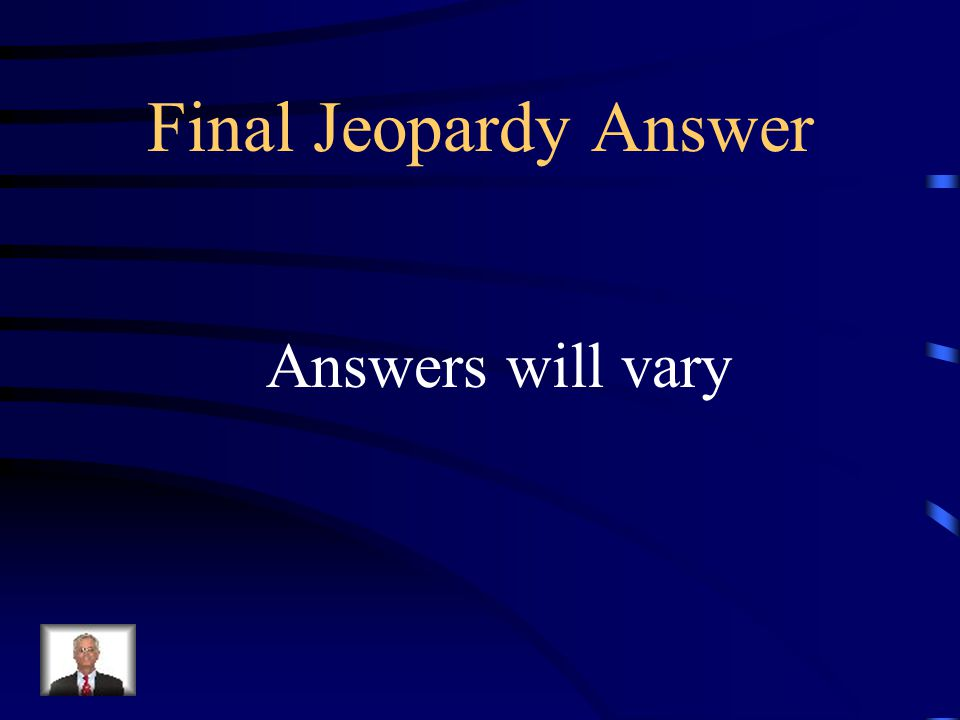 Final Jeopardy Show me 10 body parts and say them correctly in Spanish