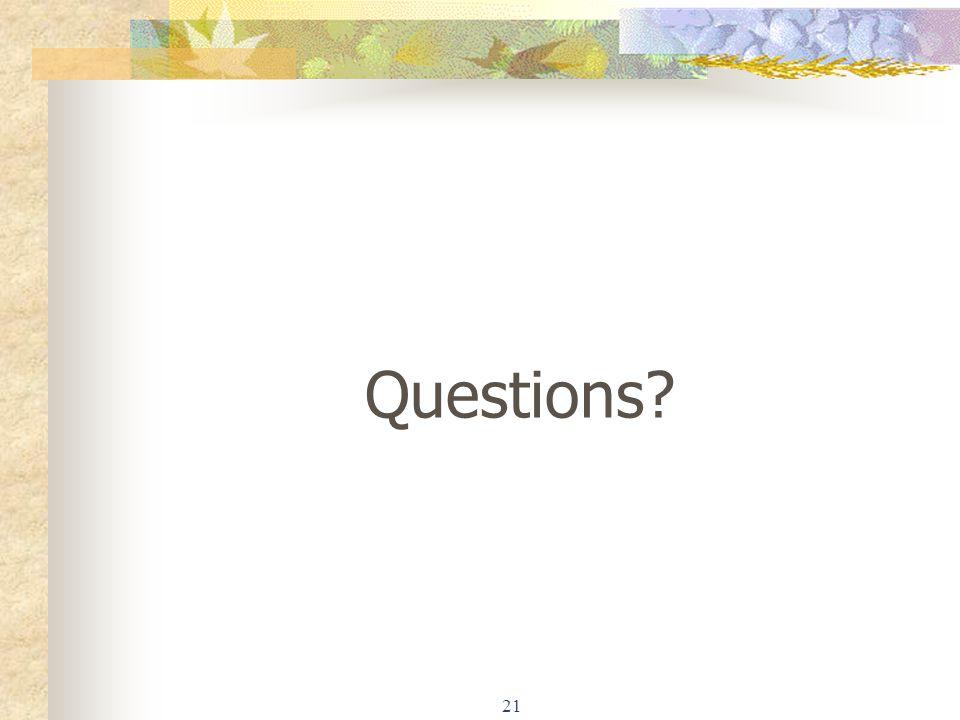 21 Questions?