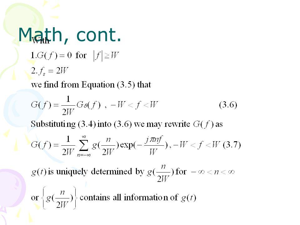 Math, cont.