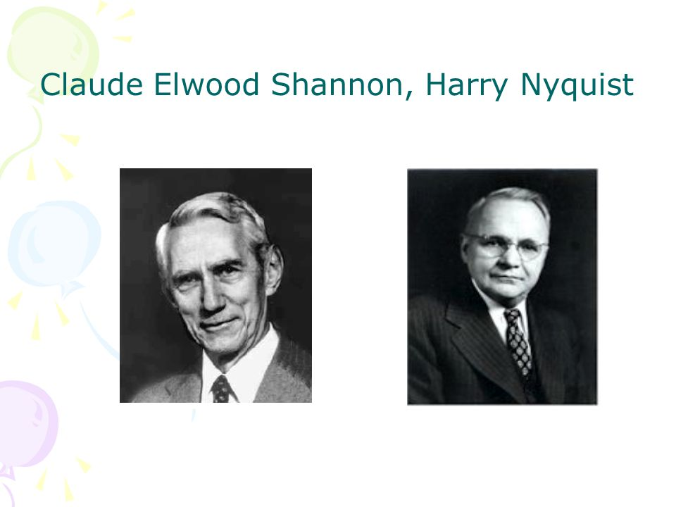 Claude Elwood Shannon, Harry Nyquist