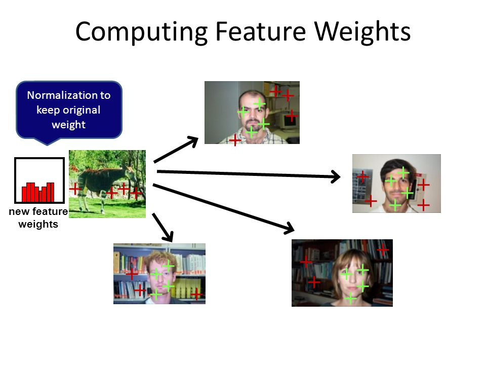 Computing Feature Weights new feature weights Normalization to keep original weight