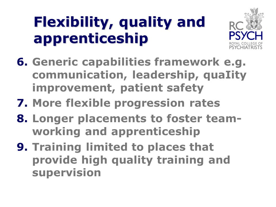Flexibility, quality and apprenticeship 6. 6.Generic capabilities framework e.g.