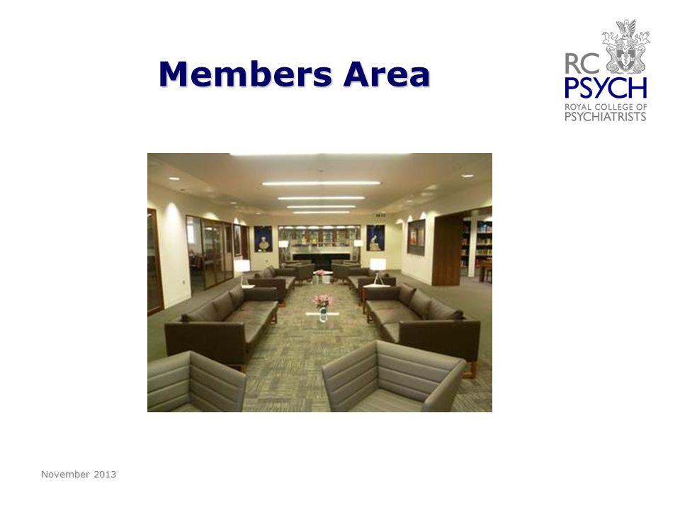Members Area November 2013