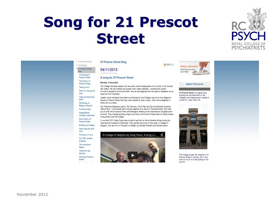 Song for 21 Prescot Street November 2013