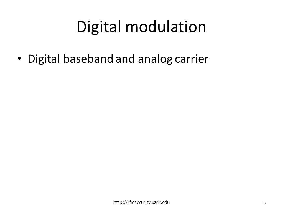 Digital modulation Digital baseband and analog carrier http://rfidsecurity.uark.edu 6