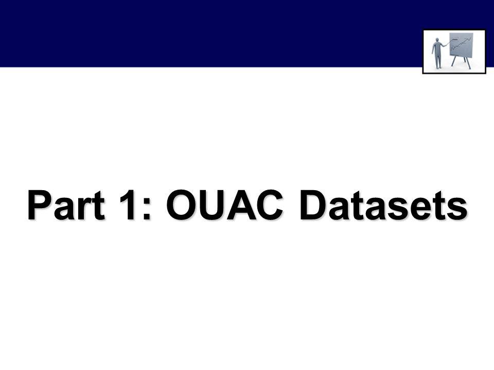 Part 1: OUAC Datasets