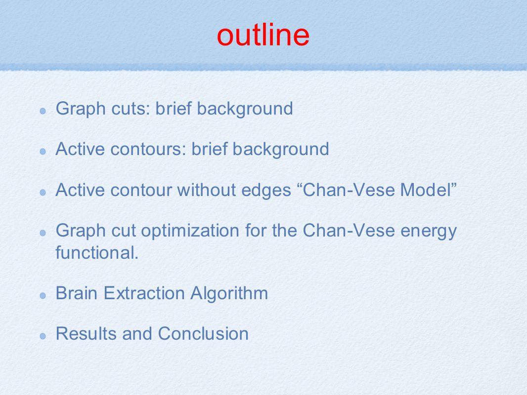 Algorithm Apply the curve evolution algorithm to the original MRI slice.