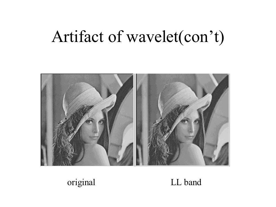 Artifact of wavelet(con't) originalLL band