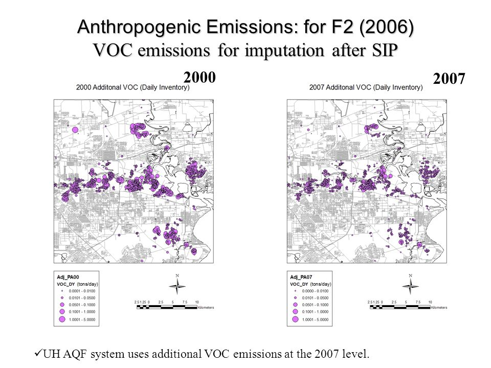 Anthropogenic Emissions: for F2 (2006) VOC emissions for imputation after SIP UH AQF system uses additional VOC emissions at the 2007 level.