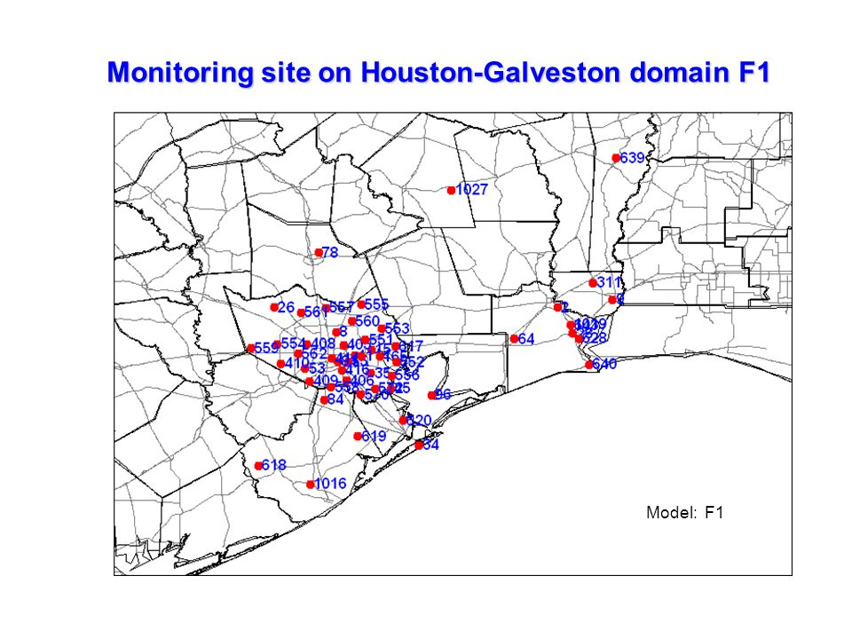 Monitoring site on Houston-Galveston domain F1 Model: F1