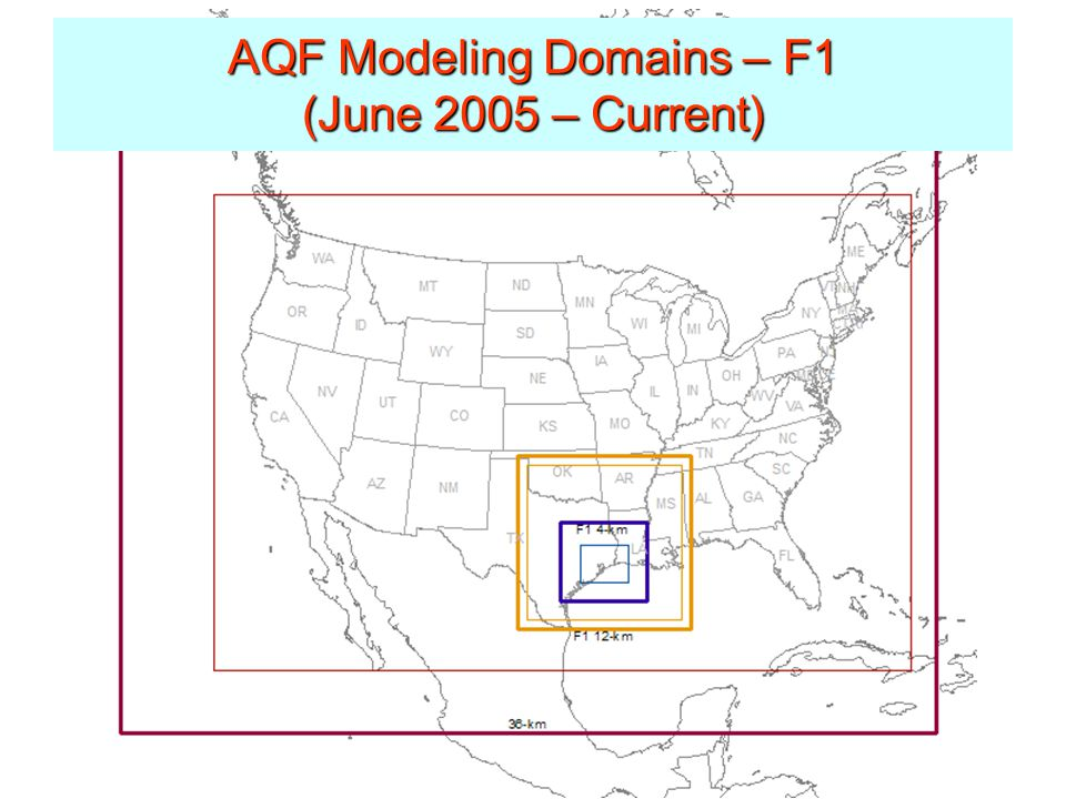 AQF Modeling Domains – F1 (June 2005 – Current)