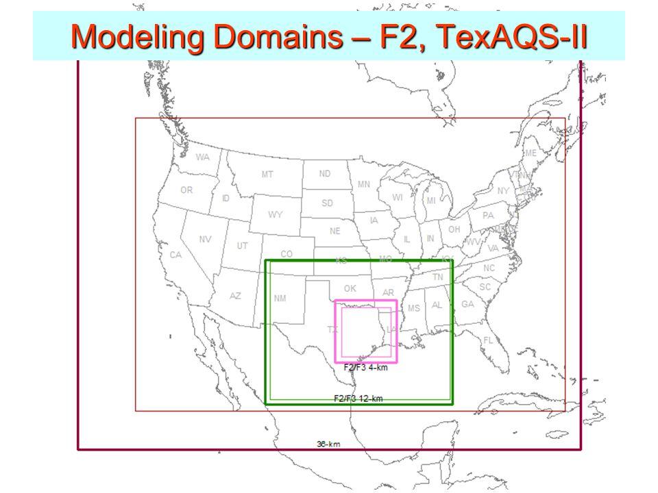 Modeling Domains – F2, TexAQS-II