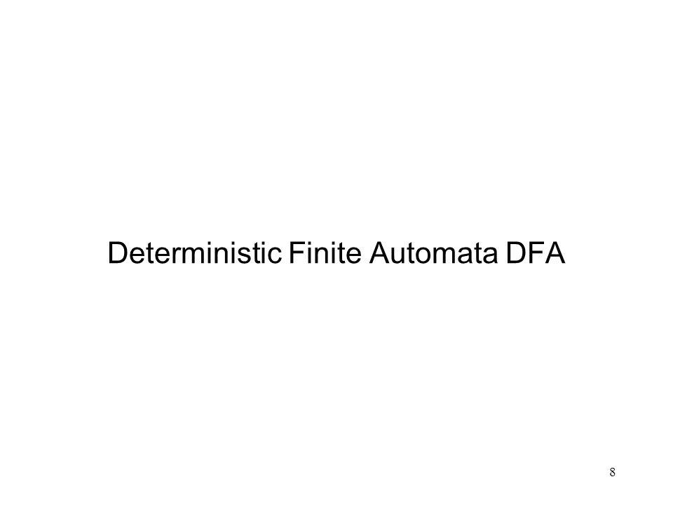 8 Deterministic Finite Automata DFA