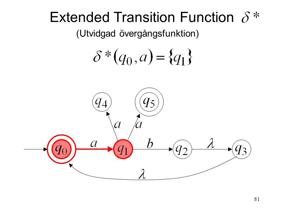 81 Extended Transition Function (Utvidgad övergångsfunktion)