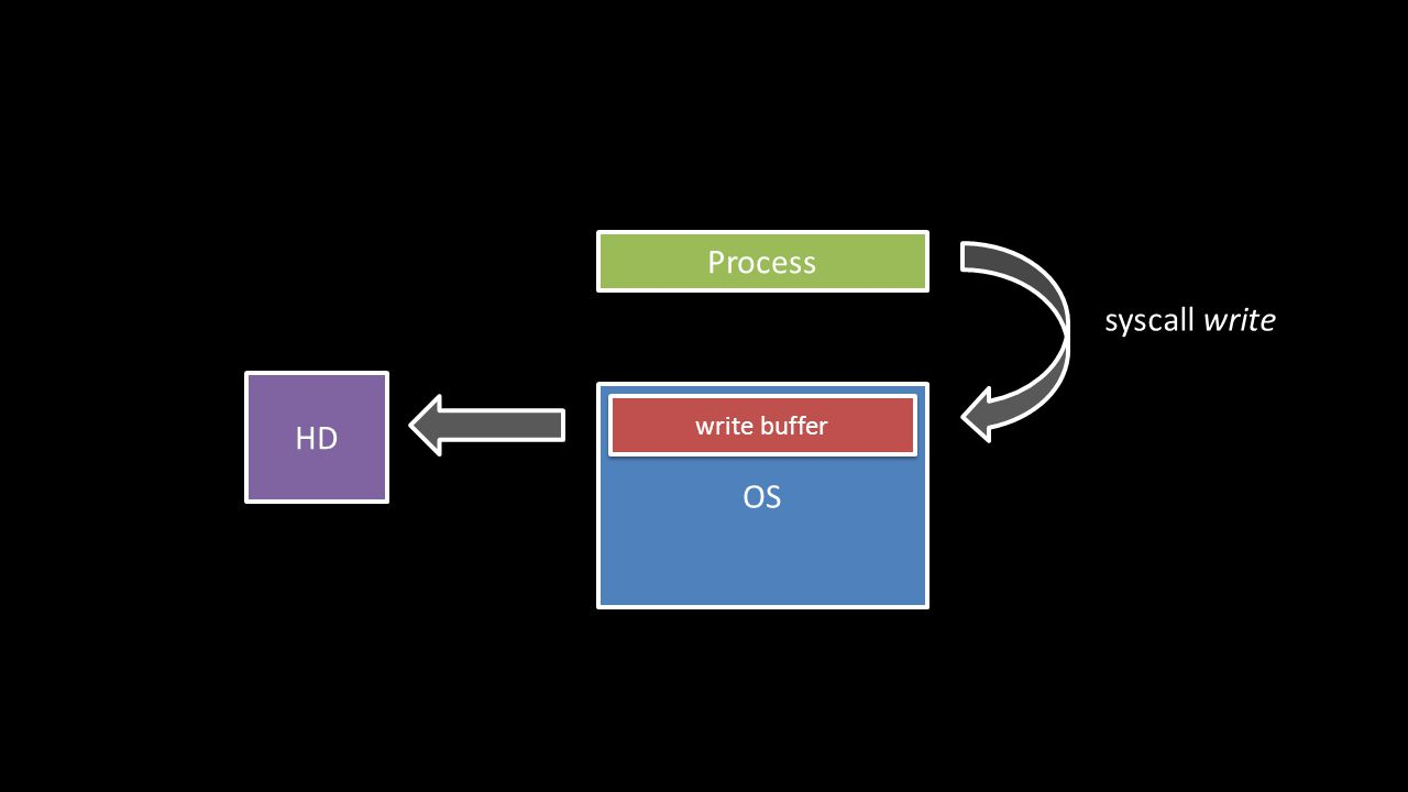 Process OS syscall write write buffer HD