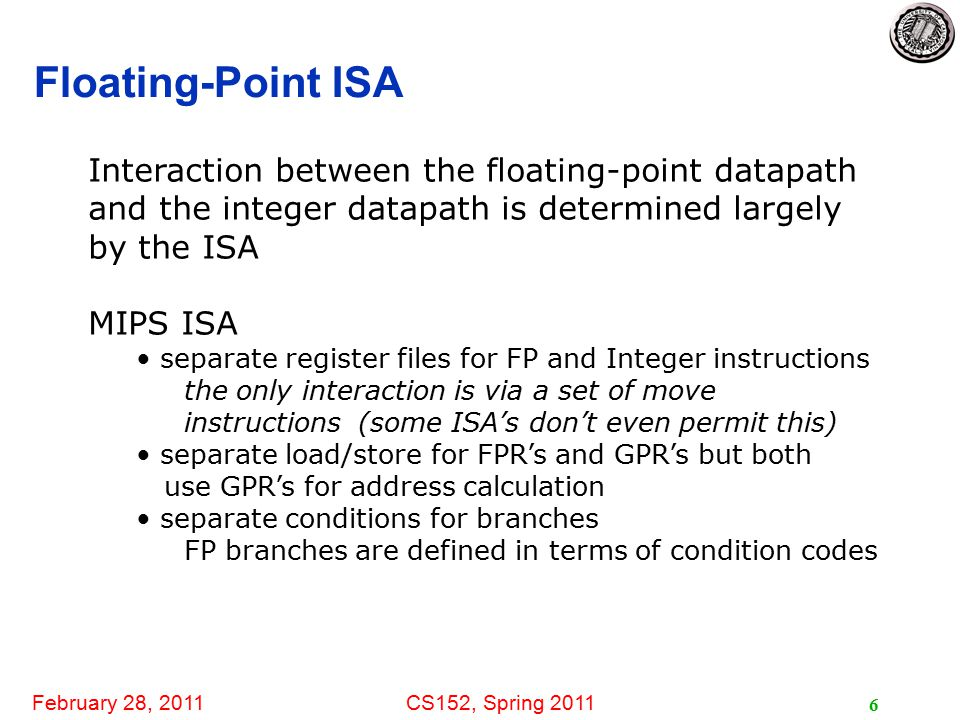 February 28, 2011CS152, Spring 2011 17 When is it Safe to Issue an Instruction.
