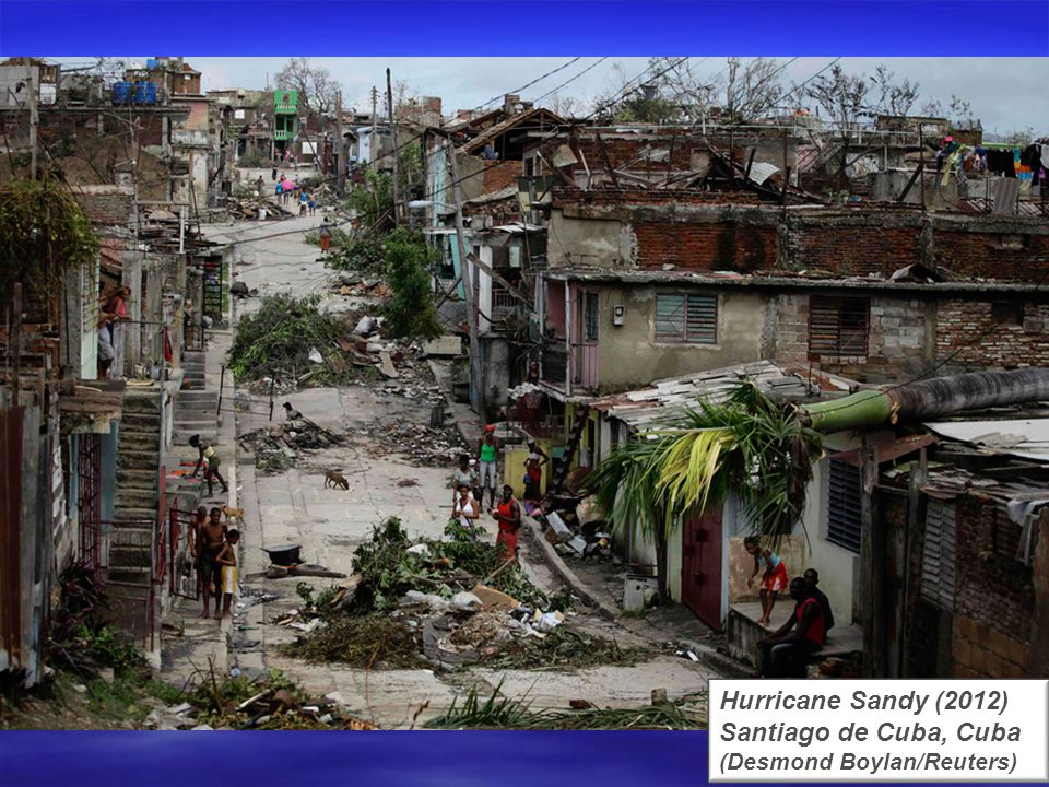 Hurricane Sandy (2012) Hoboken, New Jersey (Charles Sykes/AP)