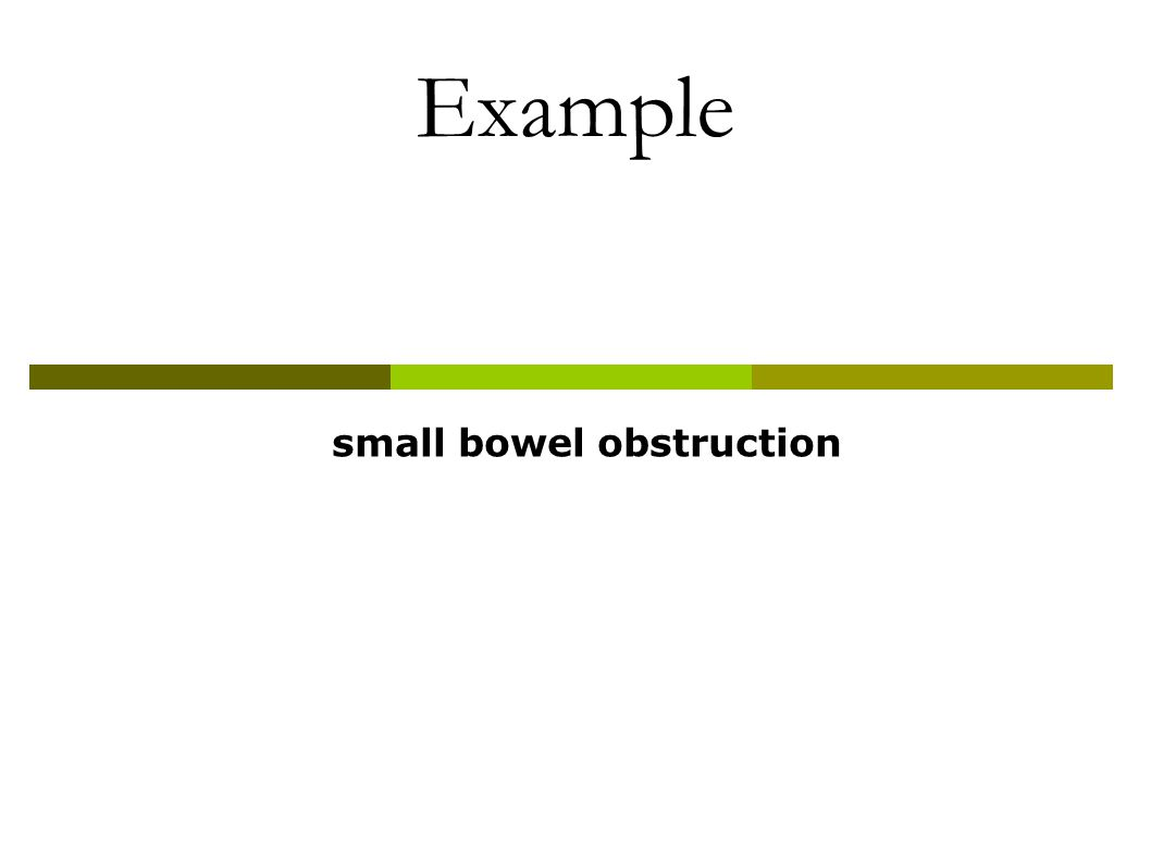 Example small bowel obstruction