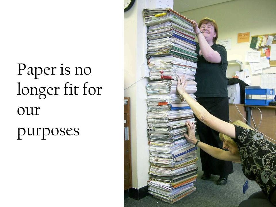 Paper is no longer fit for our purposes