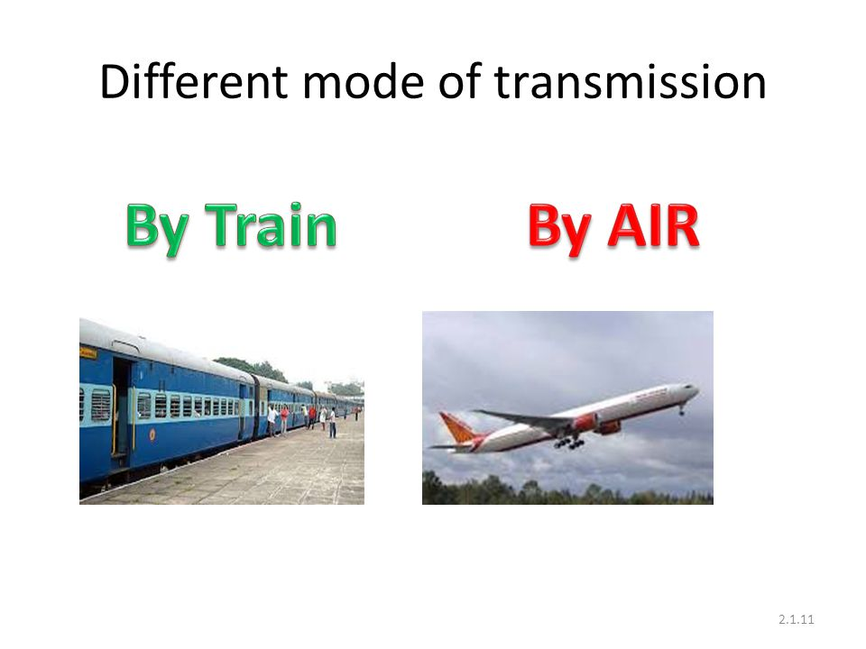 Different mode of transmission 2.1.11
