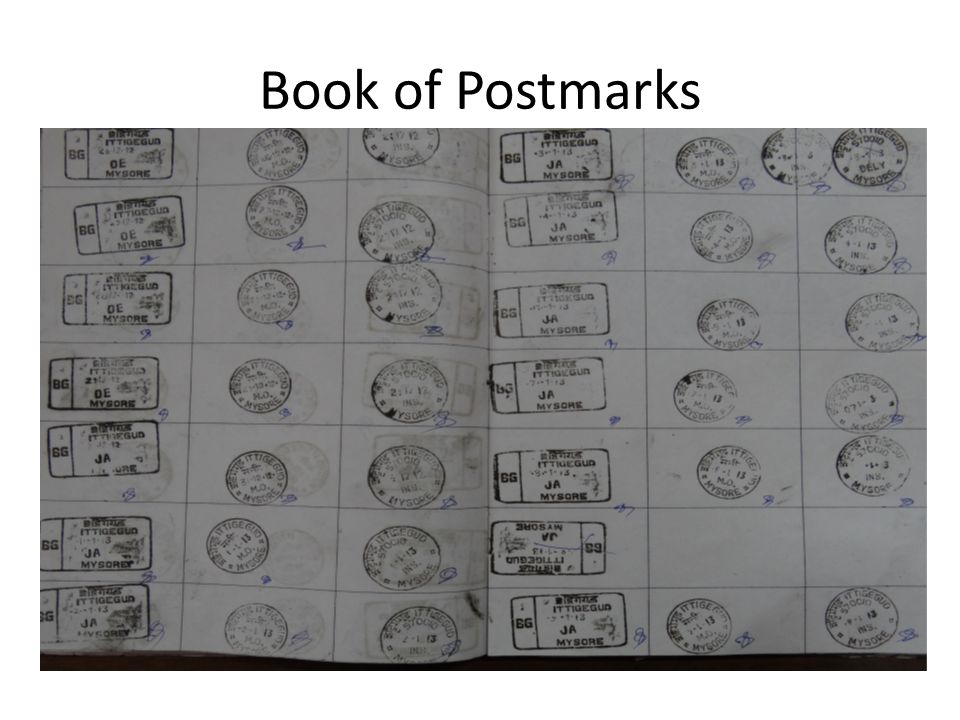 Book of Postmarks