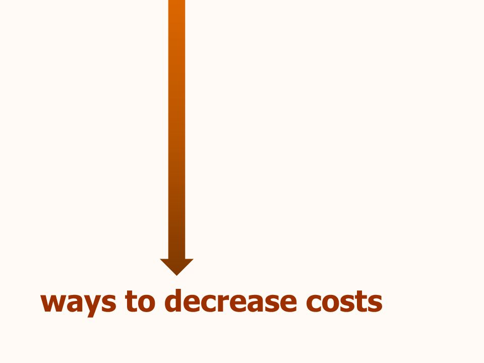 ways to decrease costs