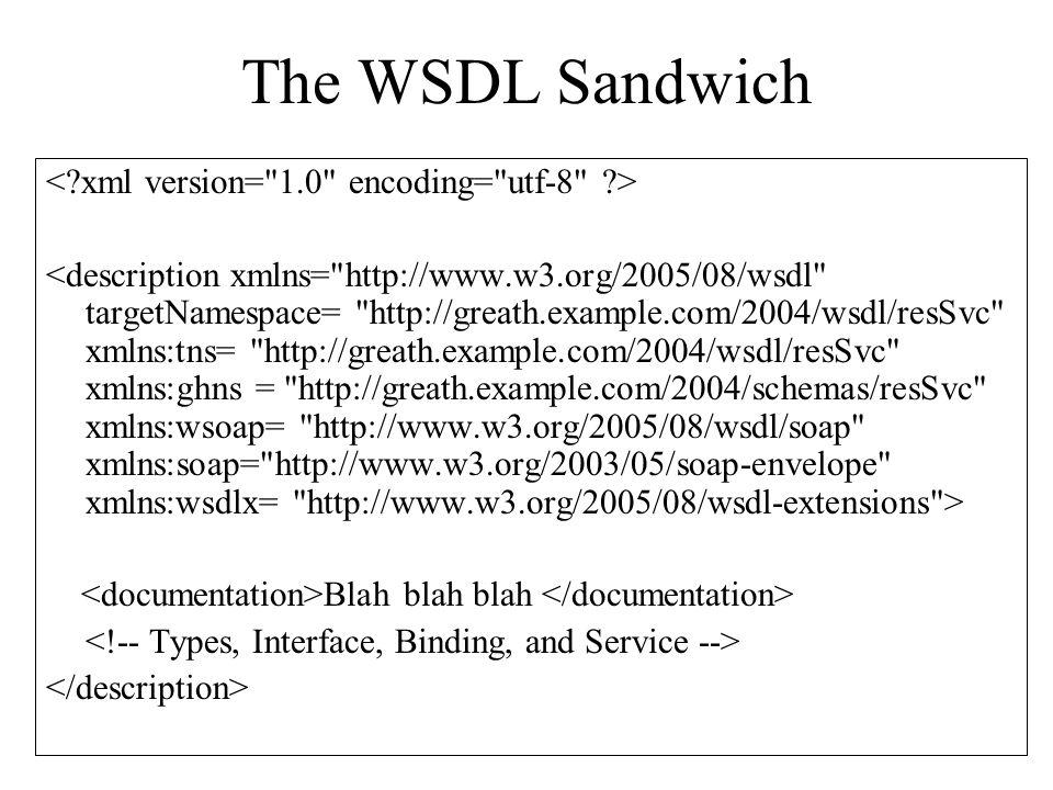 The WSDL Sandwich Blah blah blah